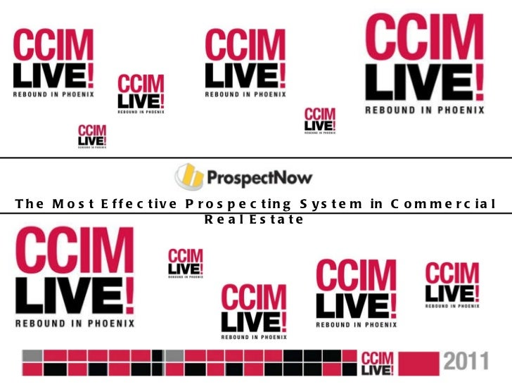 CCIM Live! Vendor Runway - Prospect Now