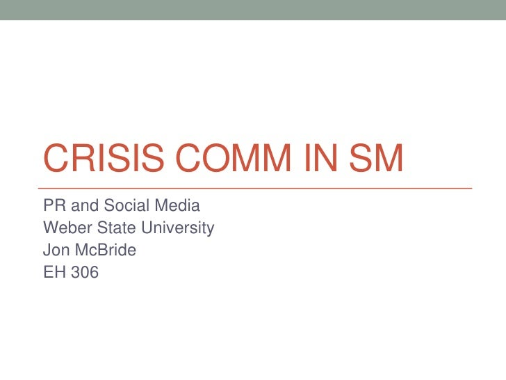 Crisis Communication in Social Media