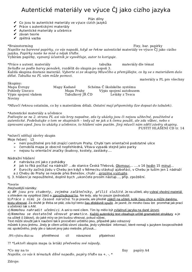 C ciz dilna autent materialy ve vyuce 2007