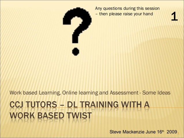 CCJ Tutors - Distance learning training with a work based twist