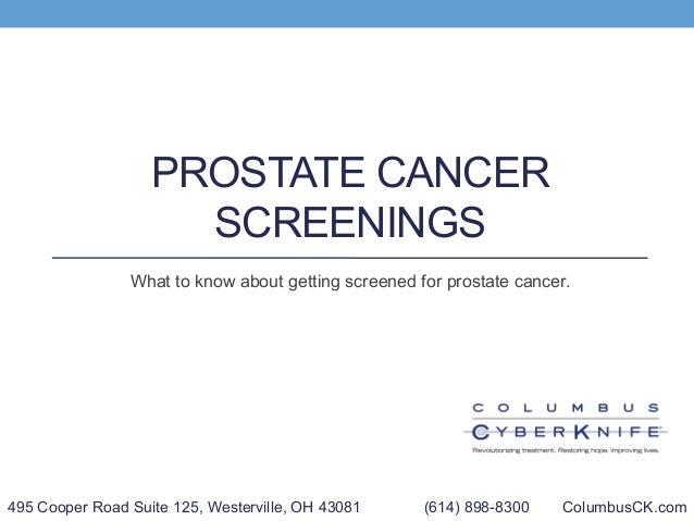 Columbus CyberKnife: Prostate Cancer Screening
