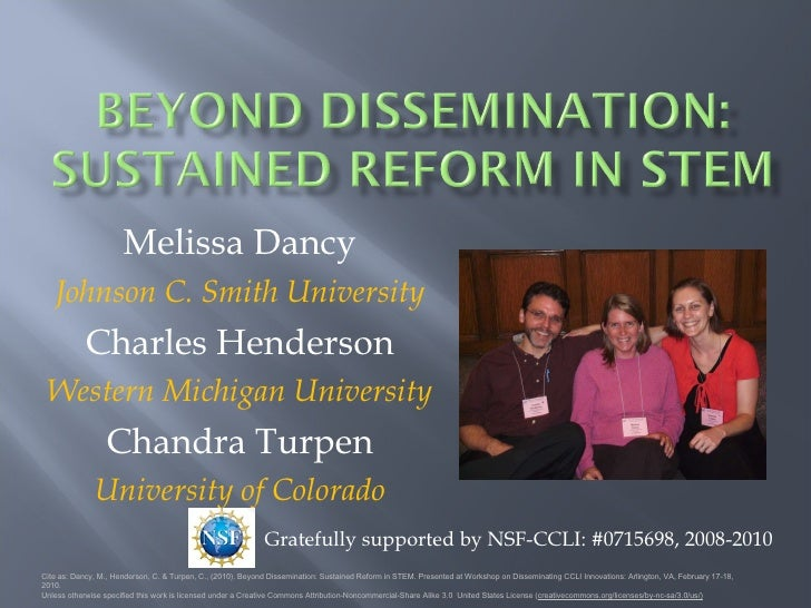 Beyond Dissemination: Sustained Reform in STEM