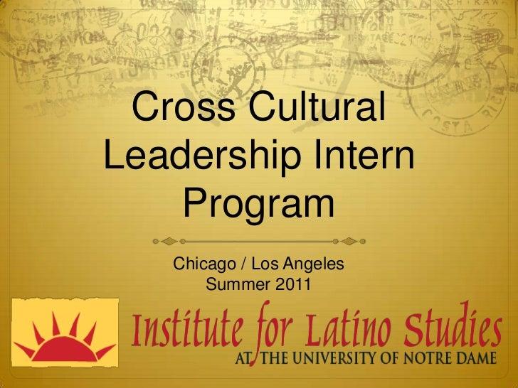 Cross Cultural Leadership Internship Program