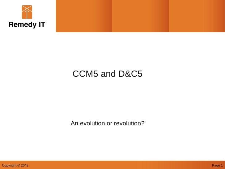 CCM5 RTWS 2012