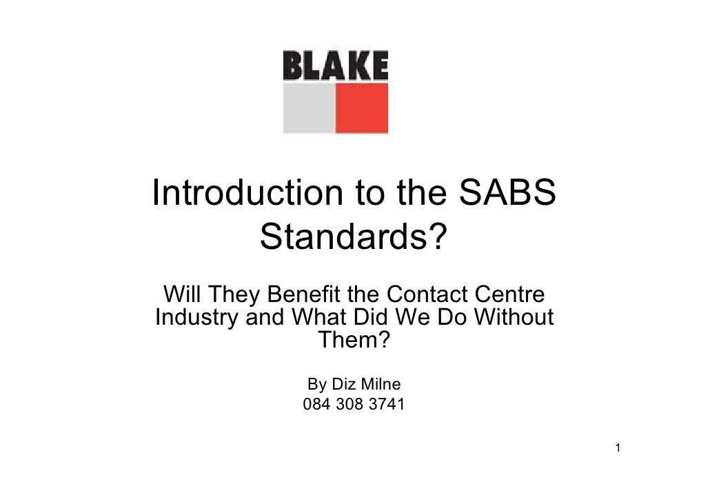 SABS standards