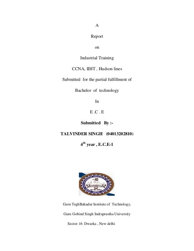 Ccna training report