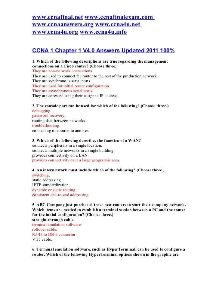 www.ccnafinal.net www.ccnafinalexam.comwww.ccnaanswers.org www.ccna4u.netwww.ccna4u.org www.ccna4u.infoCCNA 1 Chapter 1 V4...