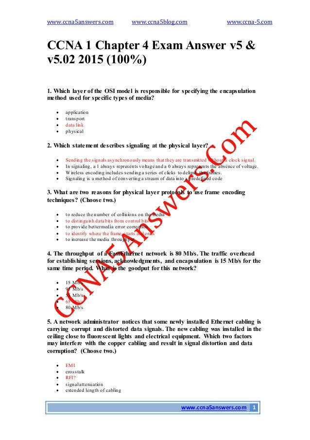 CCNA 1 Practice Final Exam v0 Questions and Answers 2013