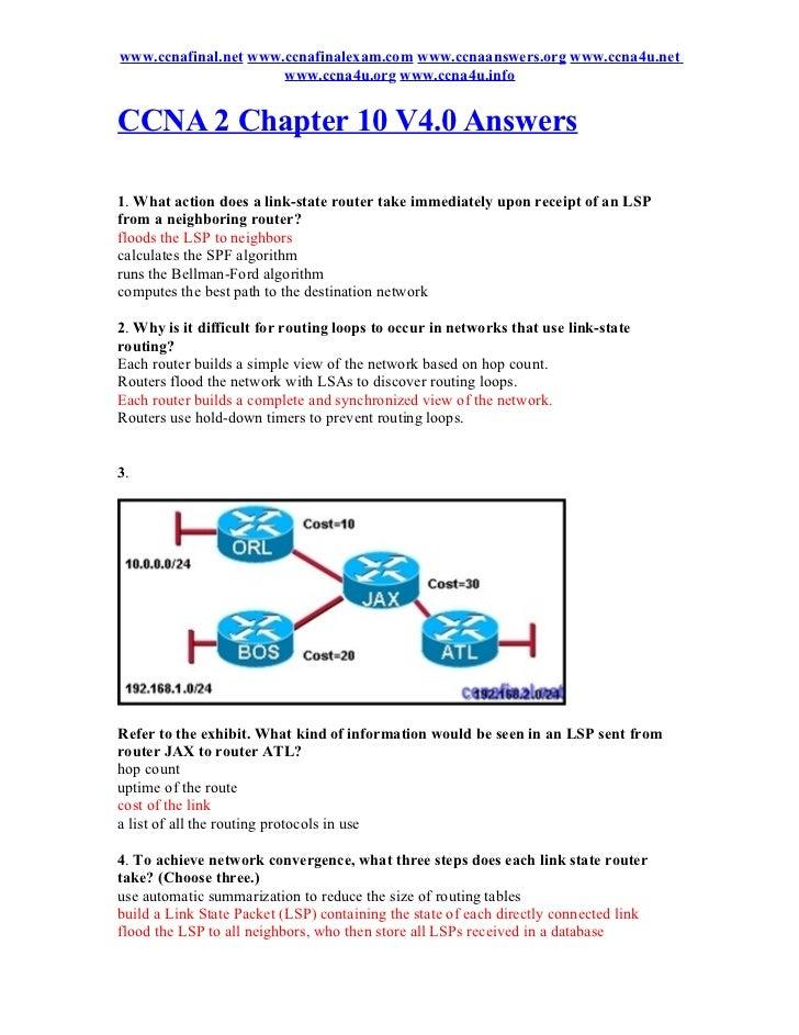 Ccna 2 chapter 10 v4.0 answers 2011