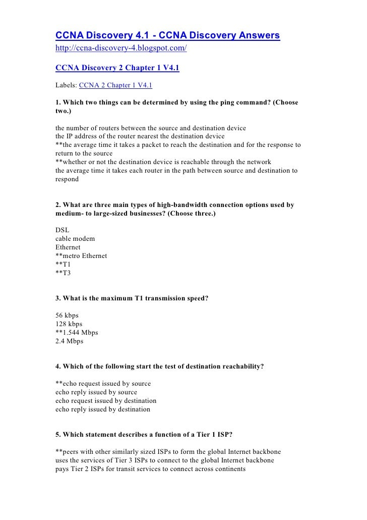 CCNA Discovery 4.1 - CCNA Discovery Answers http://ccna-discovery-4.blogspot.com/  CCNA Discovery 2 Chapter 1 V4.1  Labels...