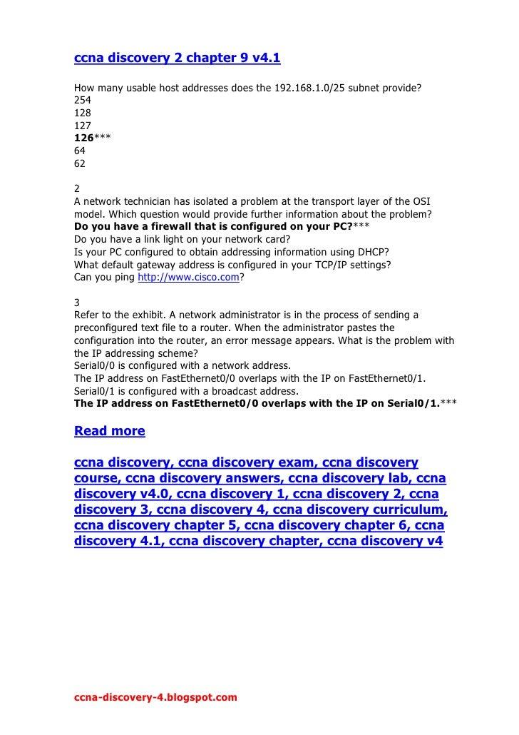 Ccna Discovery 2 Chapter 9 V4 1