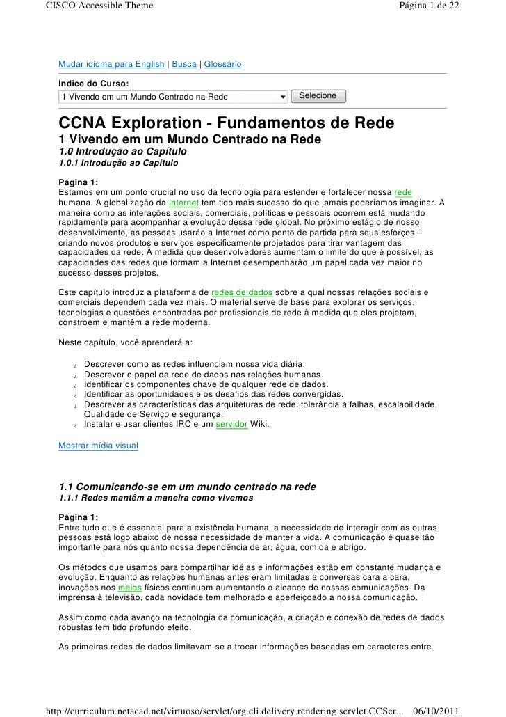 CISCO Accessible Theme                                                                     Página 1 de 22   Mudar idioma p...