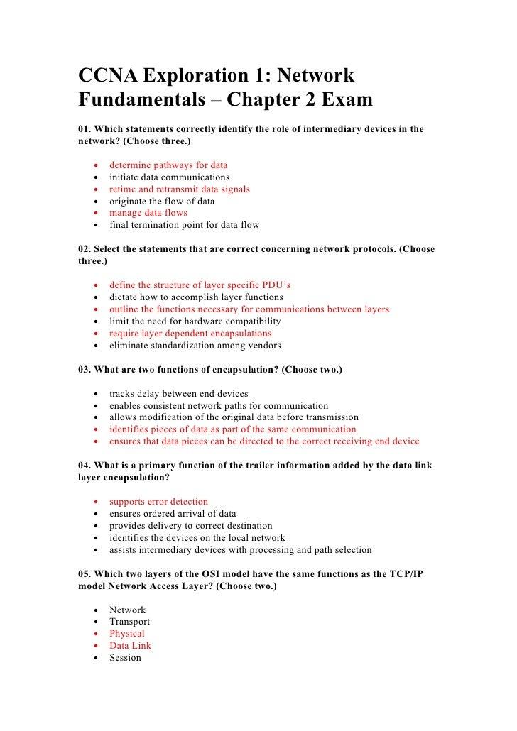 Ccna exploration exams