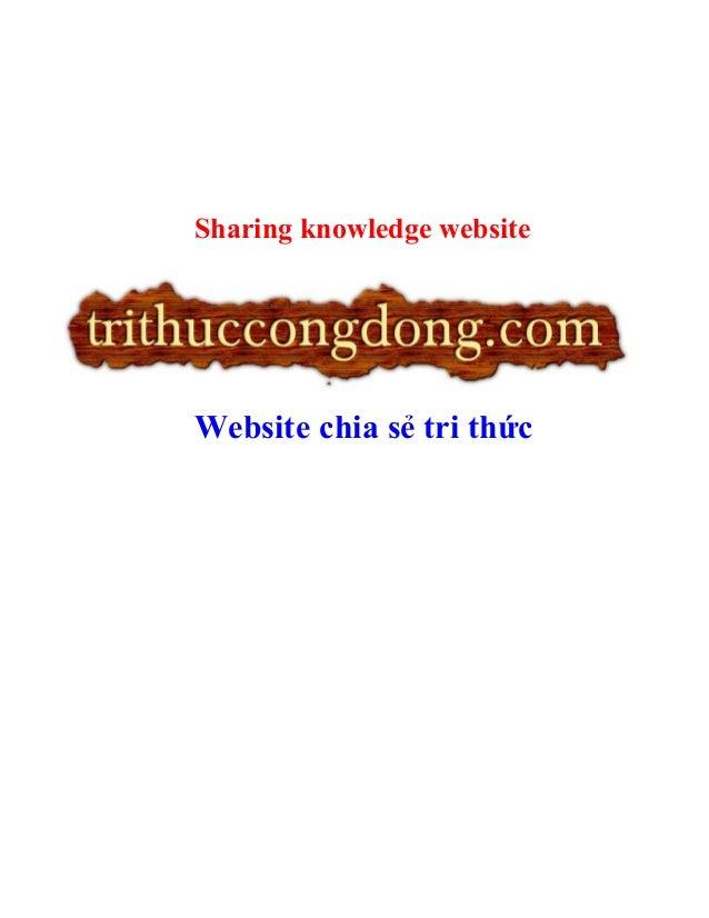 Sharing knowledge websiteWebsite chia sẻ tri thức