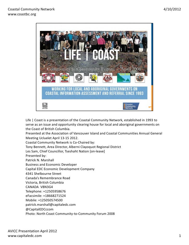 Coastal Community Network                                                                             4/10/2012www.coastbc...