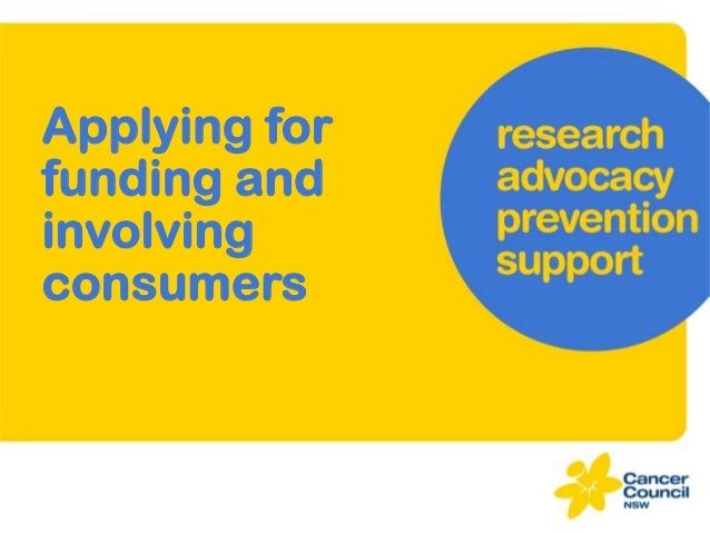 Applying for funding and involving consumers