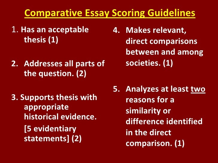 the comparative essay essay Comparative essay structure by but nor do i want to you be under some illusion that you just write one essay for each comparative mode during the year and.
