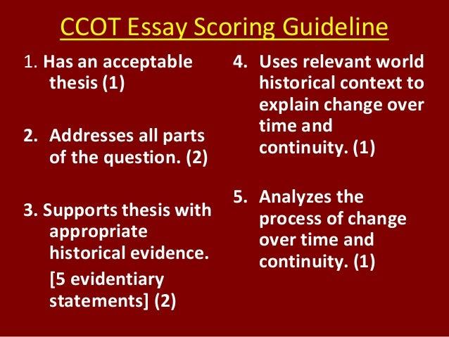 Essay scoring
