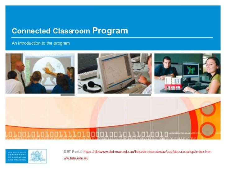 DET Portal   https://detwww.det.nsw.edu.au/lists/directoratesaz/ccp/aboutccp/icp/index.htm ww.tale.edu.au