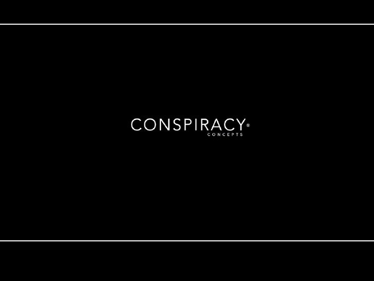 Conspiracy Concepts. Tapping into creativity.