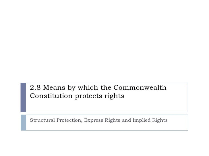 Constitutional Protection of Rights