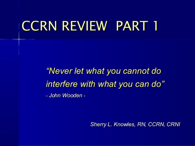 CCRN Preparation - Certified Registered Nurse Anesthetist ...
