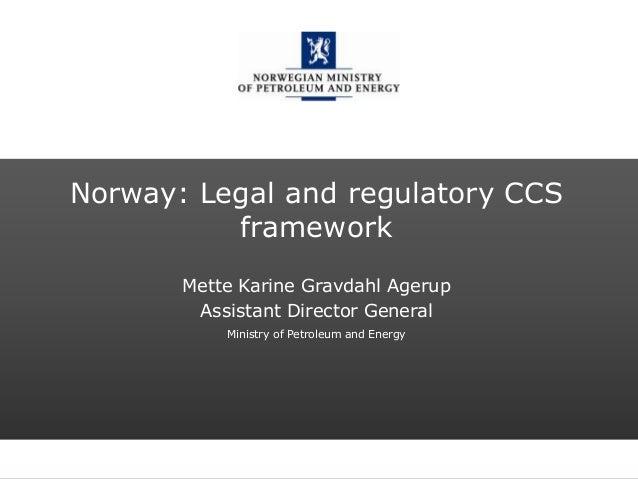 Norway: Legal and regulatory CCS framework