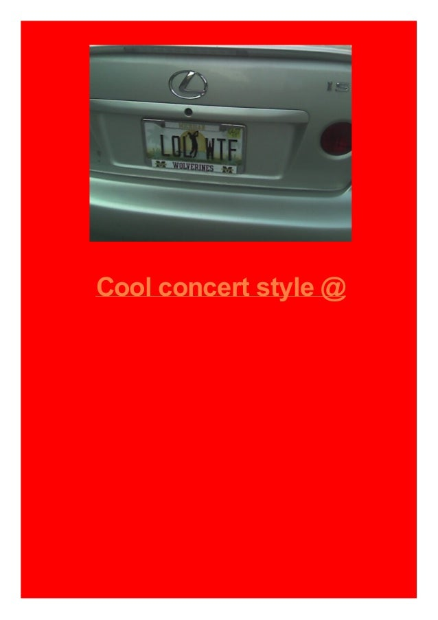 Cool concert style @