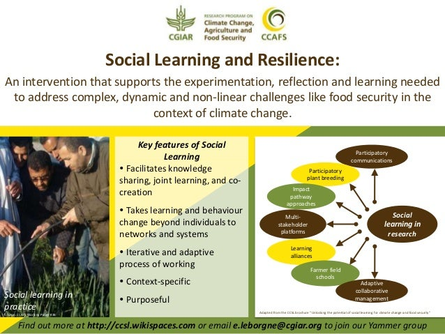 Social Learning and Resilience: An intervention that supports the experimentation, reflection and learning needed to addre...