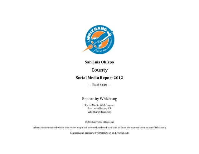 SLO County Social Media Report 2012: Business