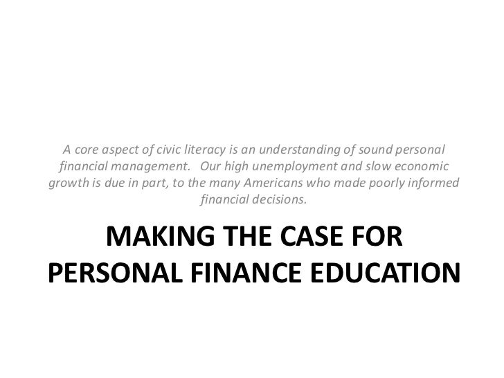 The Importance of Personal Finance Education