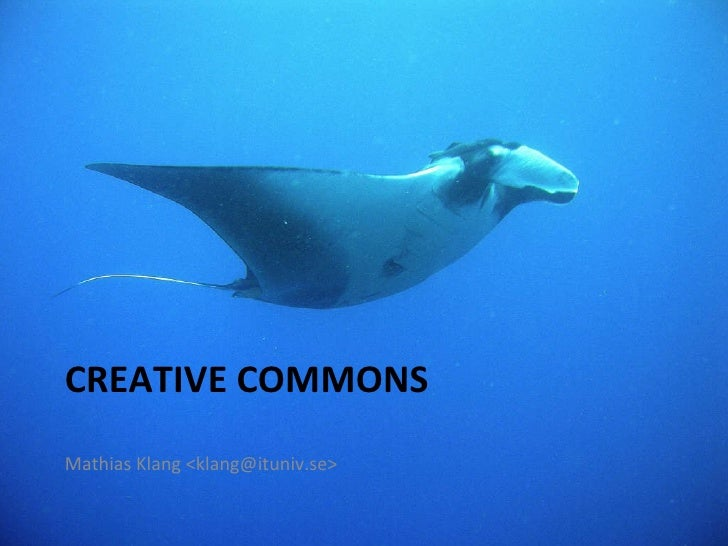 Creative Commons in Stockholm