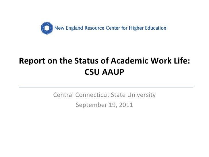 CCSU Presentation on Faculty Workload