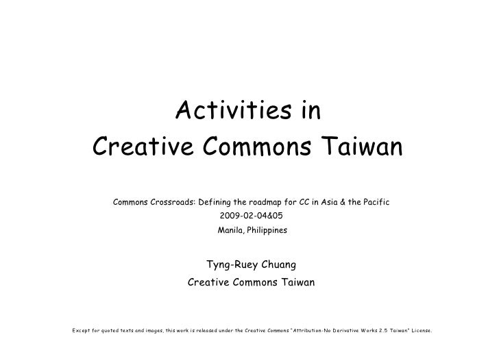 Activities in Creative Commons Taiwan
