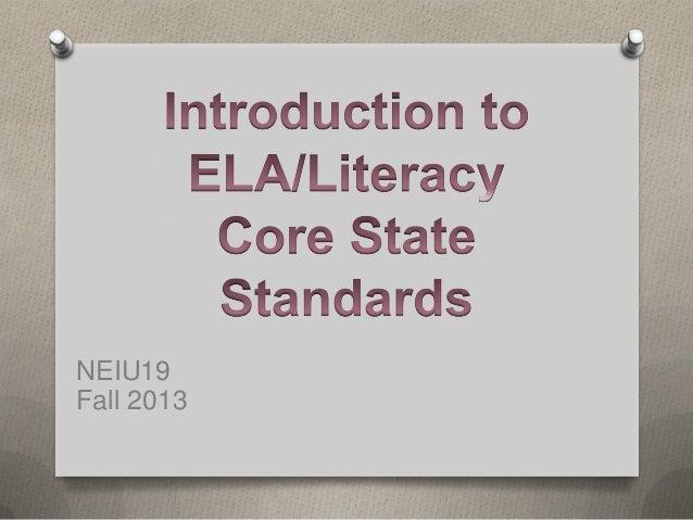 PA ELA/Literacy Common Core Training