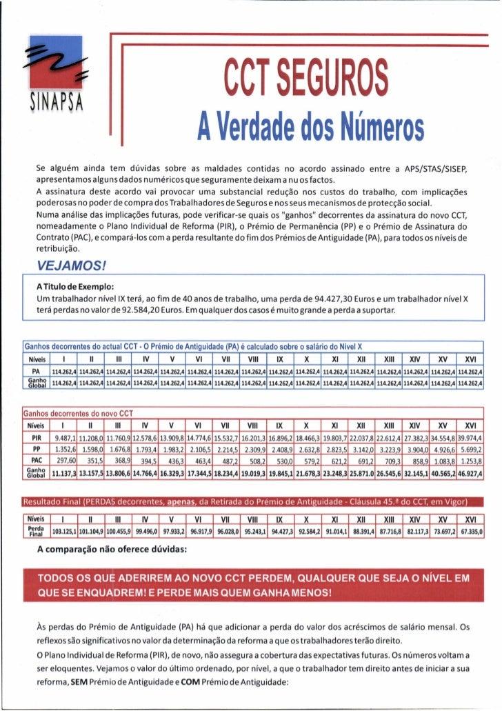 CCT SEGUROS - A verdade dos Números