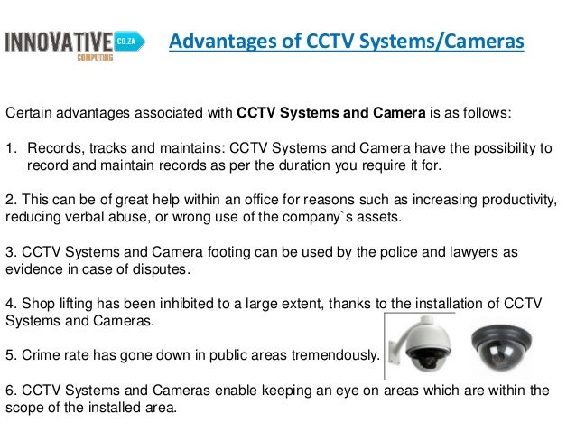 Advantage And Disadvantage Of CCTV