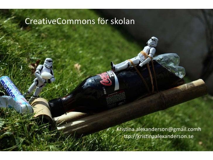 Creative Commons i skolan