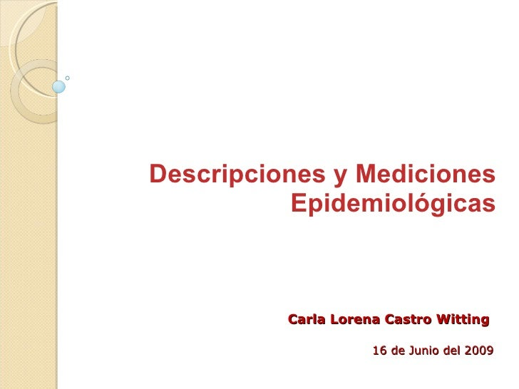 Ccw   EpidemiologíA