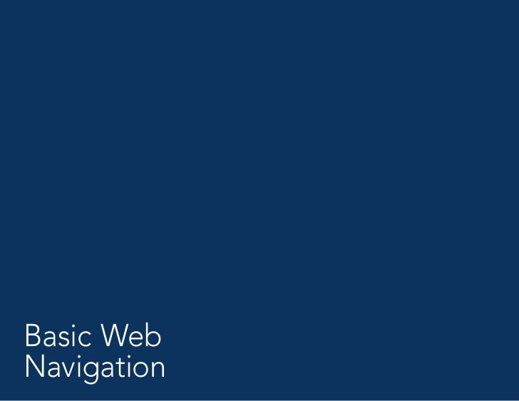 Web Navigation Presentation