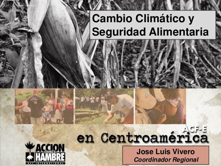 Cambio Climático ySeguridad Alimentaria        Jose Luis Vivero       Coordinador Regional