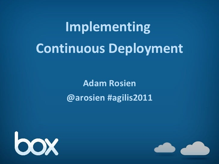 Implementing Continous Deployment