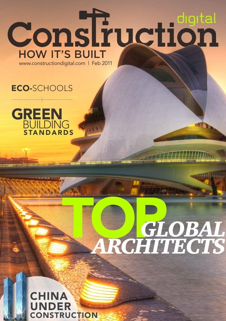 www.constructiondigital.com   Feb 2011eCo-SchoolSGreen  Building  s Ta n d a r d s                  Top            Global ...