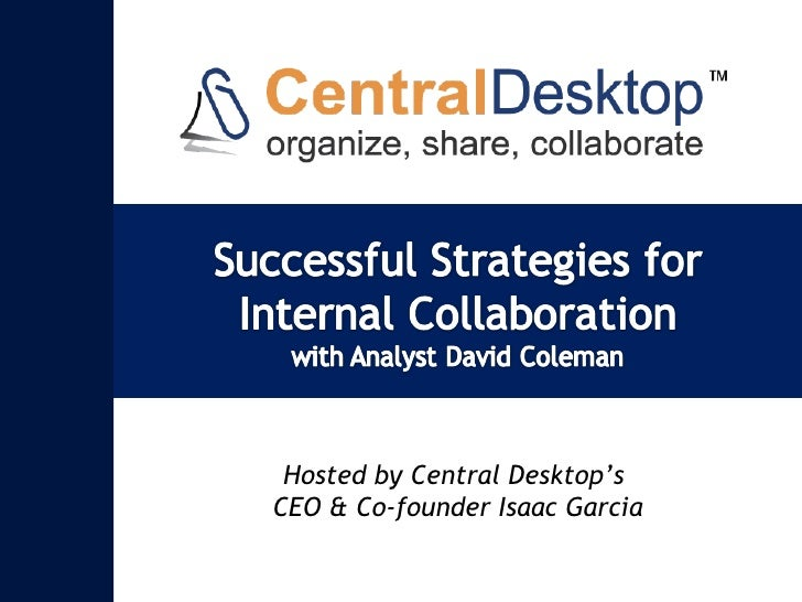 Webinar Deck - Successful Strategies for Internal Collaboration