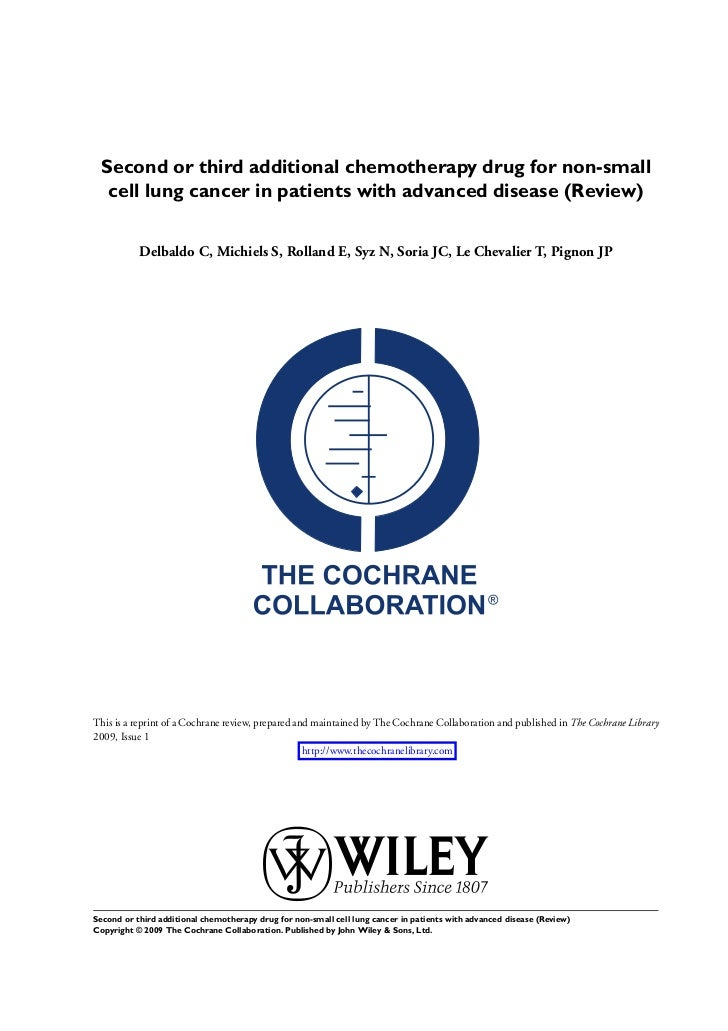 Second or third additional chemotherapy drug for non-small cell lung cancer in patients with advanced disease (Review)
