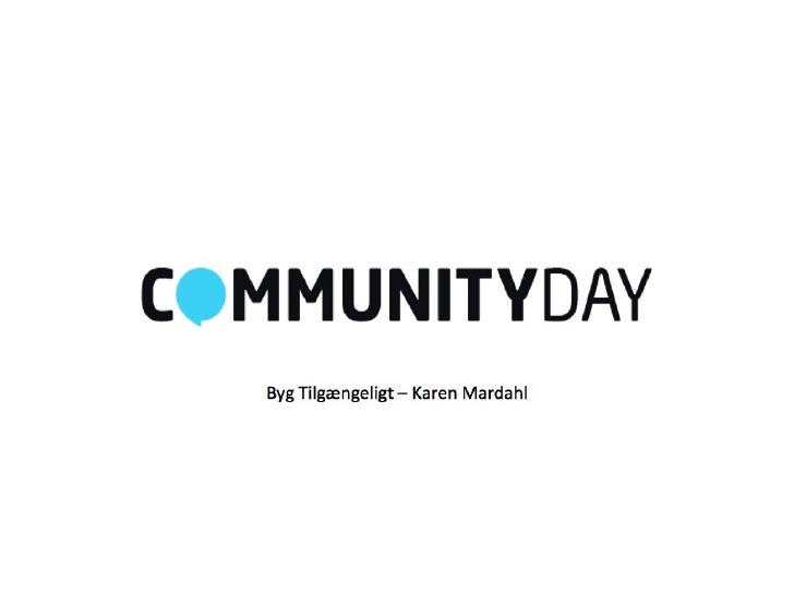 Build Accessibly - Community Day 2012