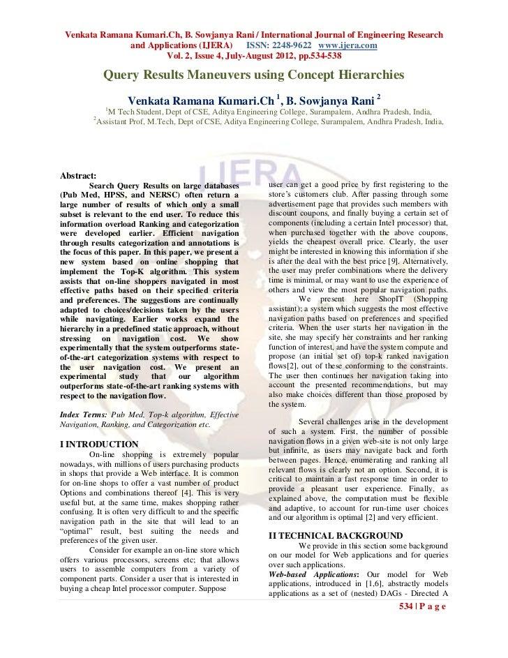Venkata Ramana Kumari.Ch, B. Sowjanya Rani / International Journal of Engineering Research               and Applications ...