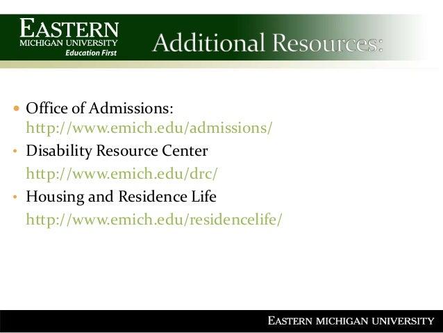 Eastern michigan university admission essay