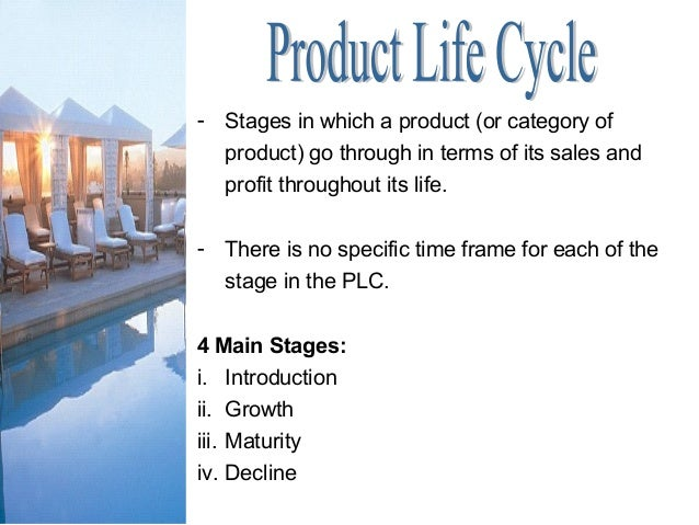 - Stages in which a product (or category of product) go through in terms of its sales and profit throughout its life. - Th...