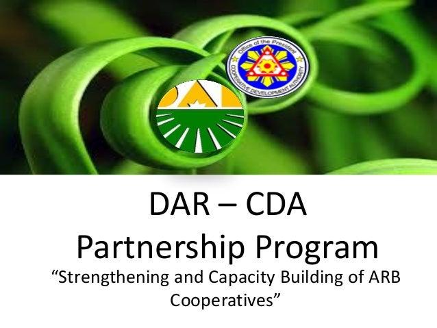 "DAR – CDA Partnership Program ""Strengthening and Capacity Building of ARB Cooperatives"""